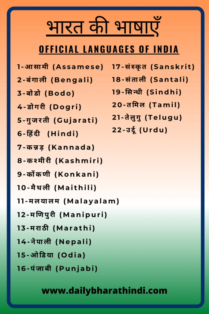 National Language of India