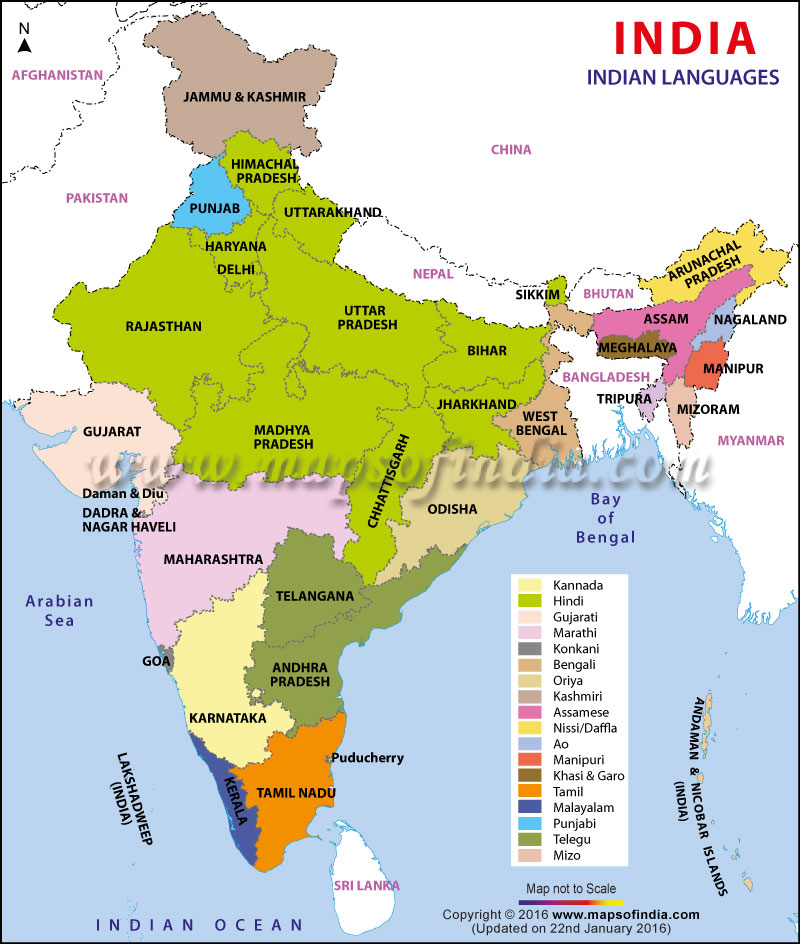 India Language map - daily bharat hindi